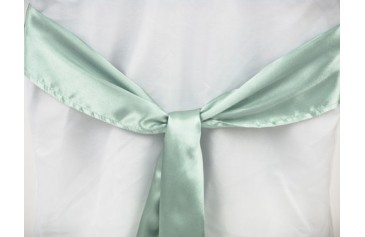 Satin Sash - Lime Green