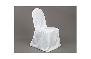 Charmant Polyester Banquet Chair Cover   White