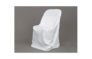 polyester folding chair cover white party depot