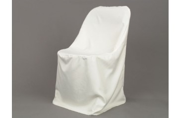Polyester Folding Chair Cover - Ivory