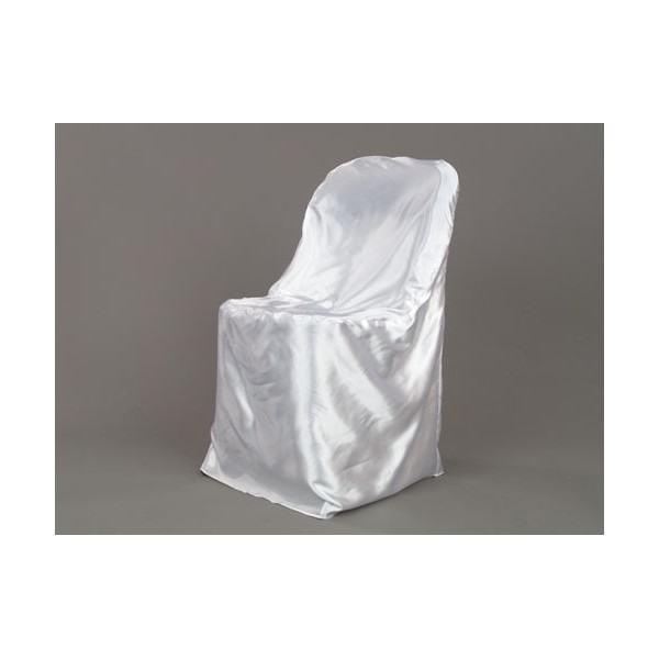 Satin Folding Chair Cover White Party Depot