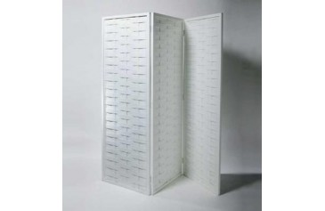 White Lttice Three Section Screen