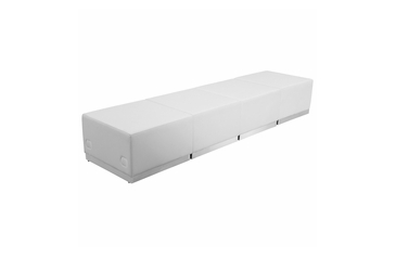 WHITE LEATHER RECEPTION 4 PCS SET No 2