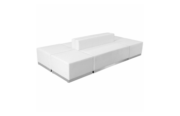 WHITE LEATHER RECEPTION 6 PCS SET No. 17