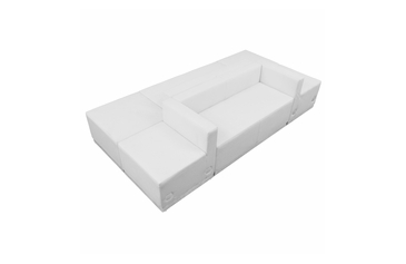 WHITE LEATHER RECEPTION 6 PCS SET No. 18