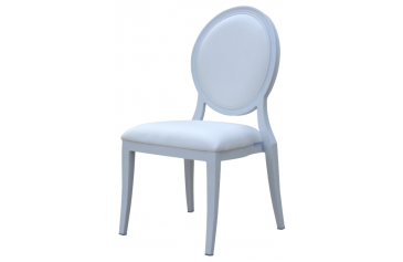 ALUMINIUN WHITE STACKING MEDALLION BANQUET CHAIR