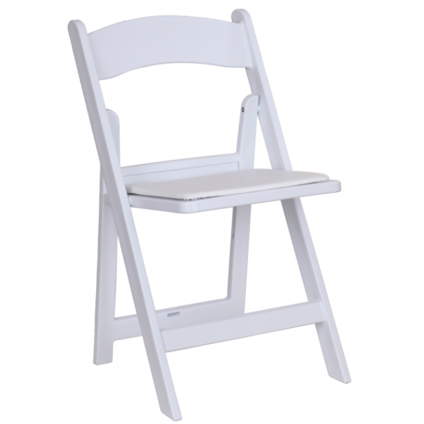 White Resin Folding Chair Party Depot