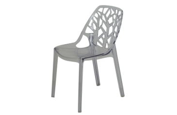 CLEAR ACRYLIC FROSTED CHAIR